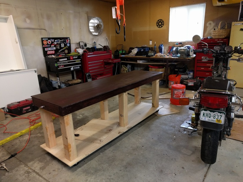 Building a Cheap Motorcycle Table for the shop!
