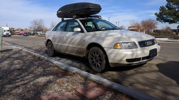 1998 Audi A4 Quattro with Yakima Q-Tower Roof Rack